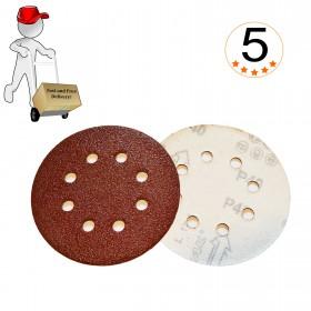"""125mm (5"""") Sanding Discs 40 to 800 Grit"""