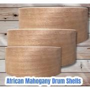 African Mahogany Drum Shells