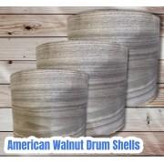 Walnut Drum Shells
